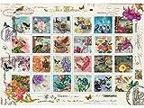 Heidi Heidi4639 1500 Pieces Stamp Collage Art Puzzle, Multi-Color