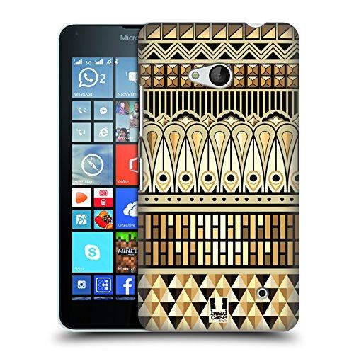 Head Case Designs Ägypter Art Deco Multikulturelle Ethnische Drucke Ruckseite Hülle für Microsoft Lumia 640 / Dual SIM