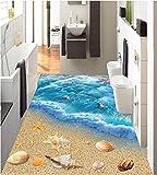 Malilove 3d-PVC Bodenbeläge Custom 3d Badezimmer Bodenbeläge Tapeten 3d World Ocean Bodenfliese Wandbilder Fototapete für Wände 3d