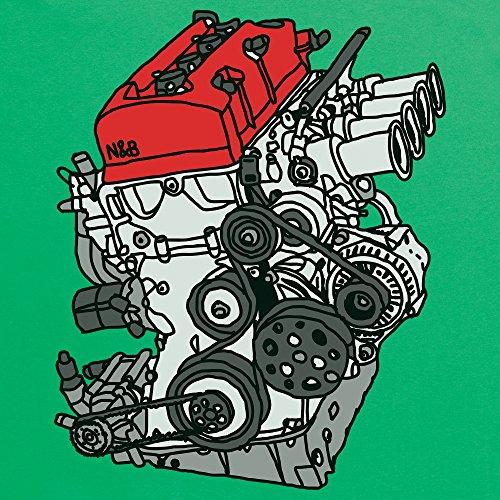 Nut & Bolt - F20C Engine T-Shirt, Herren Keltisch-Grn