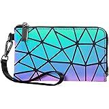 Excras Kreative Kupplung,Geometrische leuchtende Geldbörse holographische reflektierende Handtasche für Frauen Geschenk