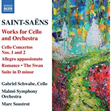 Saint-Saëns: Cello Concertos Nos. 1 and 2, Allegro Appassionato, Romance, Suite in D minor, The Swan [Gabriel Schwabe; Malmö Symphony Orchestra; Marc Soustrot] [Naxos: 8573737]