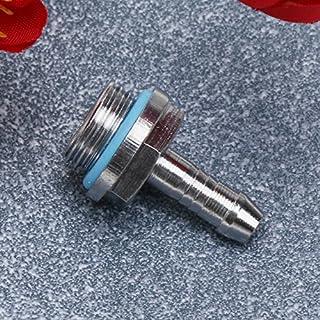 Amazingdeal Schlauchverbinder, G1/4 Gewinde, Messing, verchromte, mit Silikon versiegeln, Außendurchmesser 6 mm