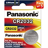 Panasonic CR-2032/5BE Lithium Coin Battery - Pack of 5