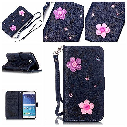 Ecoway Caso / copertura / Telefono / sacchetto per Samsung Galaxy S6farfalla intarsiato Bling Rhinestones (Bambino Basamento Di Libro)