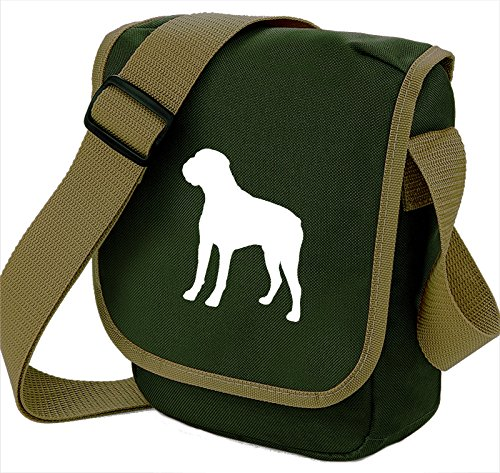 Bag Pixie - Borsa a tracolla Unisex �?Adulto White Dog Olive Bag