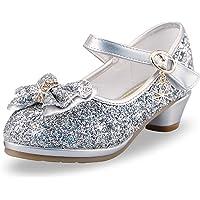 Scarpe da Principessa Ballerine Bambina Ballo Scarpe Scarpe con Tacco Alto da Principessa Décolleté per Bambini