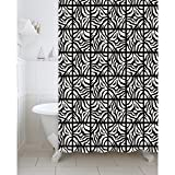 #9: Freelance Value for Money Polyester Bath Shower Bathroom Curtain with 12 hooks, Waterproof, 180 (Width) x 200 (Height) cm