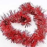 Brinny Lot de 5 Brillant Guirlandes Décoration pour arbres de noël 2m longue Christmas de Mariage Anniversaire Fête - Rouge