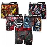 Freegun - Dc Comics - Lot De 5 Boxers Homme - Taille M - Multicolors