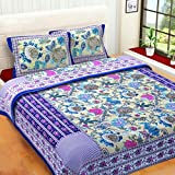 #4: BhaiJi's Elastic Fitted BedSheets 100% Pure Cotton 220 TC