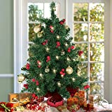 Festivities Special 60cm Table Top Christmas Tree With Red Berries And Including Ornaments & LED Lights