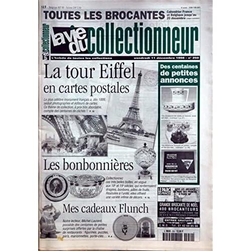 La Tour Eiffel en cartes postales - Les bonbonnières et drageoirs - Cadeux Flunch, Michel Laurent - Journaux et faits divers à Lyon - Boites de whisky, José Luis De Vicente