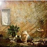 Rikki Knight Country Garden Toskana mit Pflanze Design Art Keramik Fliesen, 4von 4-Zoll