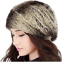 RDJM casquillo de las mujeres de otoño e invierno de la manera de las mujeres calientan el casquillo de orejeras