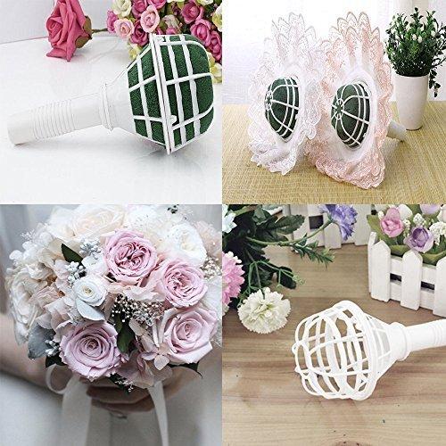 Hochzeit Steckschaumhalter Steckmoos für Brautstrauß Blumengesteck Lady I weiß