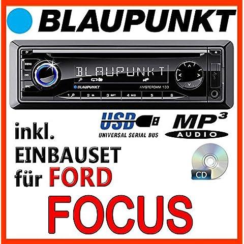 Ford Focus MK1 - BLAUPUNKT Amsterdam 130 - CD/MP3/USB Autoradio - Einbauset