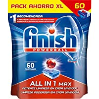 Finish Dishwasher Tablets All in One Max 60 Tablets (Pack of 2)