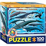 Euro Gráficos Puzzle 100 piezas - Ballenas y Delfines (caja 6x6) - (EG81000082)