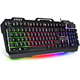 EMPIRE GAMING - Clavier Gamer RGB EMPIRE K600 - Chassis métallique - 105 touches semi-mécaniques - 19 touches anti-ghosting - Rétro-éclairage RGB