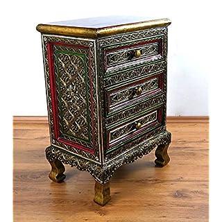 Asiatische Kommode im Glasmosaik-Look | Massivholz Schrank | Asiatischer Schrank der Marke Asia Wohnstudio | Thailand, Bali, Indonesien, Nr.35