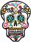 Candy Sugar Skull Tatoo Punk Rock Emo Rockabilly Biker Jacket T shirt Patch Sew Iron on Embroidered Badge Sign / Size 2.5