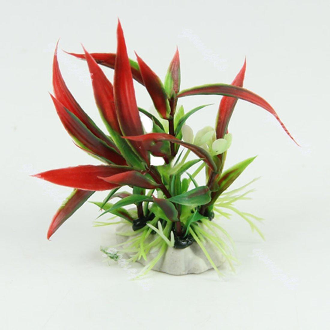 Plantes artificielles en plastique pour Aquarium Fiah Tank ornements décoration