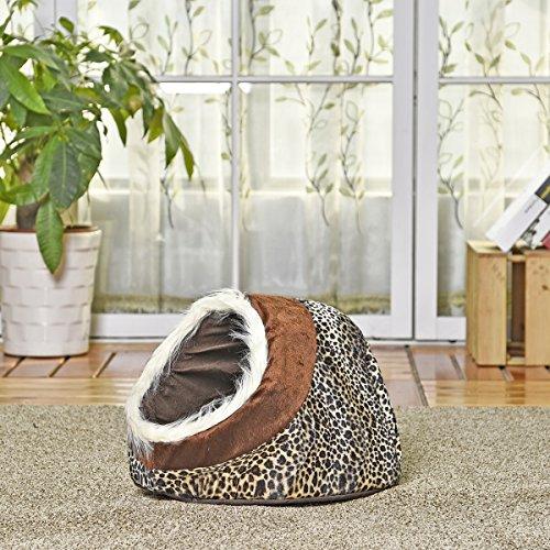 XUJW-PET Luxus Hund Haus Hund Bett Katze Höhle Bett Dual Use Nest für kleine Tier Welpen Kaninchen Katzen mit Thicken Wärmer Kissen 5 Styles ( PATTERN : 1 ) (Pet-wärmer)