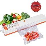 CrazyFire Folienschweißgerät, Vakuumierer für Lebensmittel, Fleisch,Früchte,Vakuum Maschine Einfach zu Bedienen inkl. 30 gratis Profi-Folienbeutel