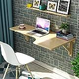 YJL Hölzerne Ecklerntabelle, faltbarer kreativer Bürotisch L-Art Schreibtisch an der Wand befestigter Tisch-Computer-Schreibtisch (Farbe : L type left, größe : 80 * 60cm)