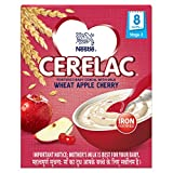 Nestlé Cerelac Fortified Baby Cereal with Milk – 8 Months+, Stage 2, Wheat Apple Cherry, 300g