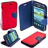 PACK - Verre Trempé Samsung Galaxy A3 2016 (A310) Film Protection Vitre écran Protecteur + Coque Etui Housse Portefeuille CHIC ROUGE Samsung Galaxy A3 2016 (A310)