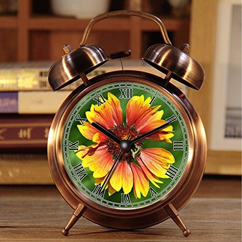 alarmclock Wecker, Retro Portable Twin Bell neben Wecker mit Nachtlicht 333.Flower, Insekt, Makro, Biene, Hummel, FrüHling, Nektar