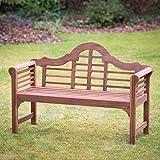 Plant Theatre Lutyens Hardwood Garden Bench - Superb Quality ()