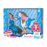 Sweet Girl Doll with Horse Toy for Girls