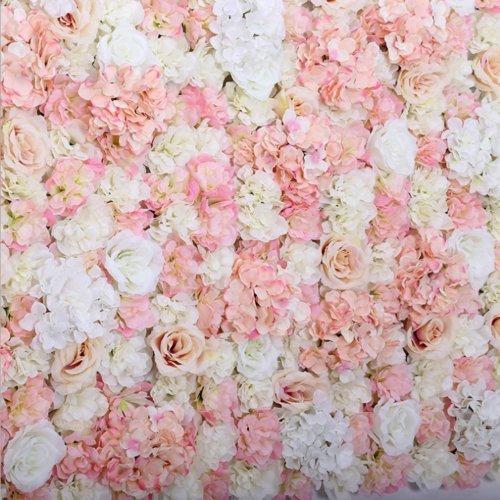 Sf World 10 X Artificial Flower Rose Hydrangea Wall Panel Wedding Background Backdrop Pink Buy Online In Bermuda At Bermuda Desertcart Com Productid 99857006