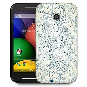 Snoogg Floral Hand Drawn Background Designer Protective Phone Back Case Cover For Motorola E2 / MOTO E22