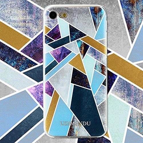 iPhone 6 Plus Hülle,iPhone 6s Plus Hülle,Lizimandu Gel TPU Silikon Schutz Silikon Schutzhülle Handy Case Cover Tasche Etui Bumper für Apple iPhone 6plus/6s plus(Lila Fragment/Purple Fragment) Lila Fragment/Purple Fragment