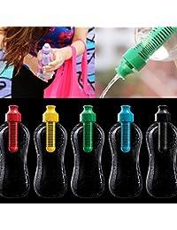 Bazaar 550ml extérieur bouteille d'eau de filtre multifonctionnel de carbone pe hydratation bouteille potable filtrée