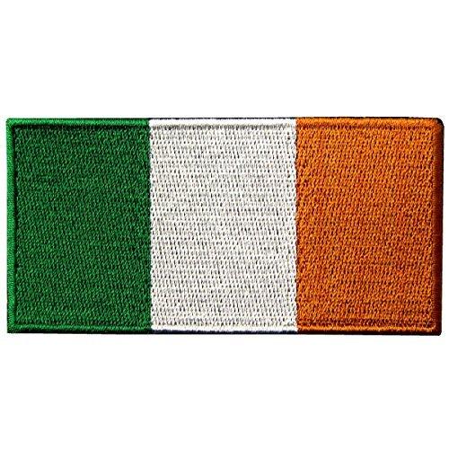 Republik Irland Flagge bestickt Irish National Emblem Eisen auf Sew auf Patch (Irish Girl Kostüm)