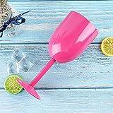 TAOtTAO Water Cup Edelstahl-Stemless-Wein-Wasser-Schalen-Doppelte Wand-Vakuumisolierung (C)