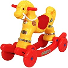 JBRD 2 in 1 Horse Rider for Kids ( Yellow & RED )