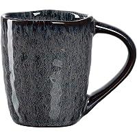 Leonardo Matera 018594 Lot de 4 tasses à expresso en grès Passe au lave-vaisselle Gris 90 ml