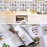 Self Kleber wasserdicht Ölfesten Hochtemperaturbeständige Wand Aufkleber Küche Moisture-Proof Folie Folienstärke, GJ-B, 60cmx5M,