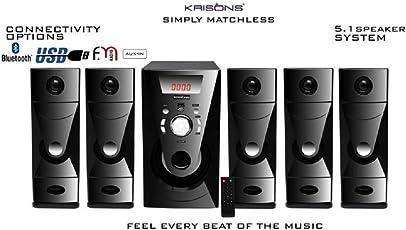 Krisons KES444 Bluetooth 5.1 Home Theater (5000 Watt)