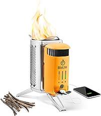 Biolite Revolutionärer Camping-kocher Mit Akku, USB-ladeausgang & Flexlight, Grün, M