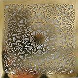 Laserschnitt Motiv aus Pressholzplatte - orientalisches Ornament (gold 2, 100x100cm)
