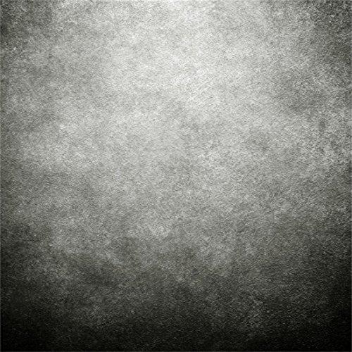 YongFoto 2x2m Vinyl Foto Hintergrund Abstrakt Grau Schwarz Jahrgang Grunge Solide Textur Mauer Fotografie Hintergrund für Fotoshooting Portraitfotos Fotografen Kinder Fotostudio Requisiten