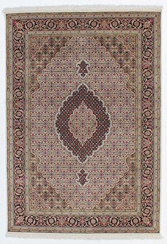 Tabriz Orientalische Teppiche (Indo Täbriz Royal Teppich Orientalischer Teppich 206x143 cm, Indien Handgeknüpft Klassisch)