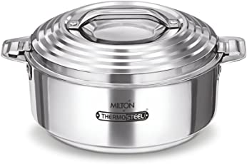 Milton Galaxia Stainless Steel Casserole, 2.5 litres, Silver